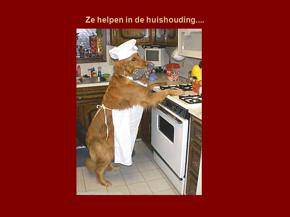 Ze helpen in de huishouding....