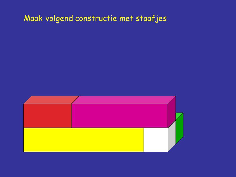 Maak volgend constructie met staafjes
