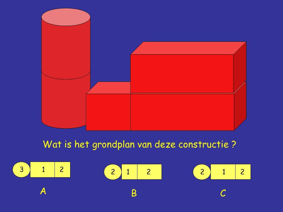Wat is het grondplan van deze constructie ? 312 A 2 12 B 212 C