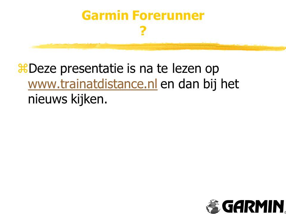 Garmin Forerunner .