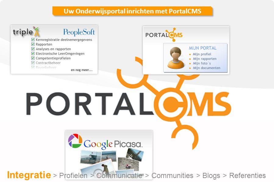 Uw Onderwijsportal inrichten met PortalCMS Door op aanmelden rechts in het menu te klikken kunt u een nieuw gebruikersaccount aanmaken.