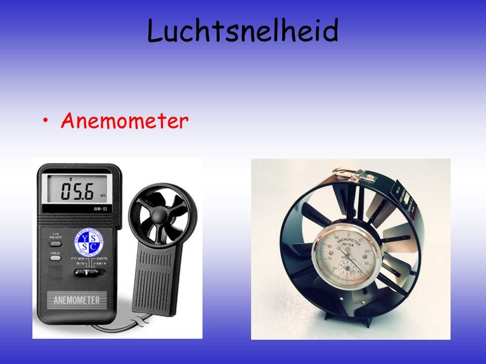 Luchtsnelheid •Anemometer