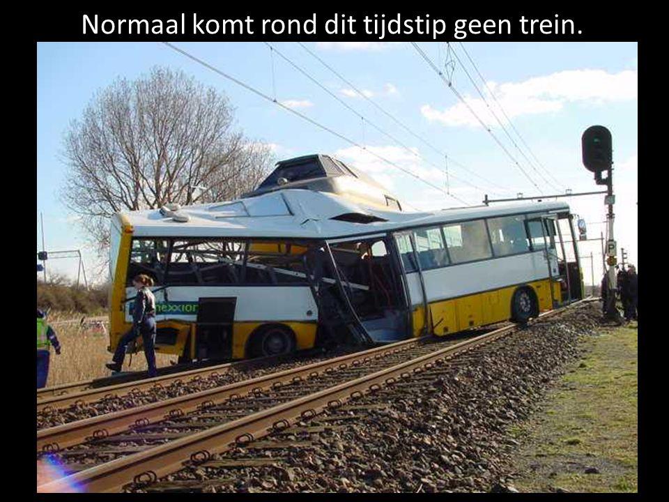 Normaal komt rond dit tijdstip geen trein.