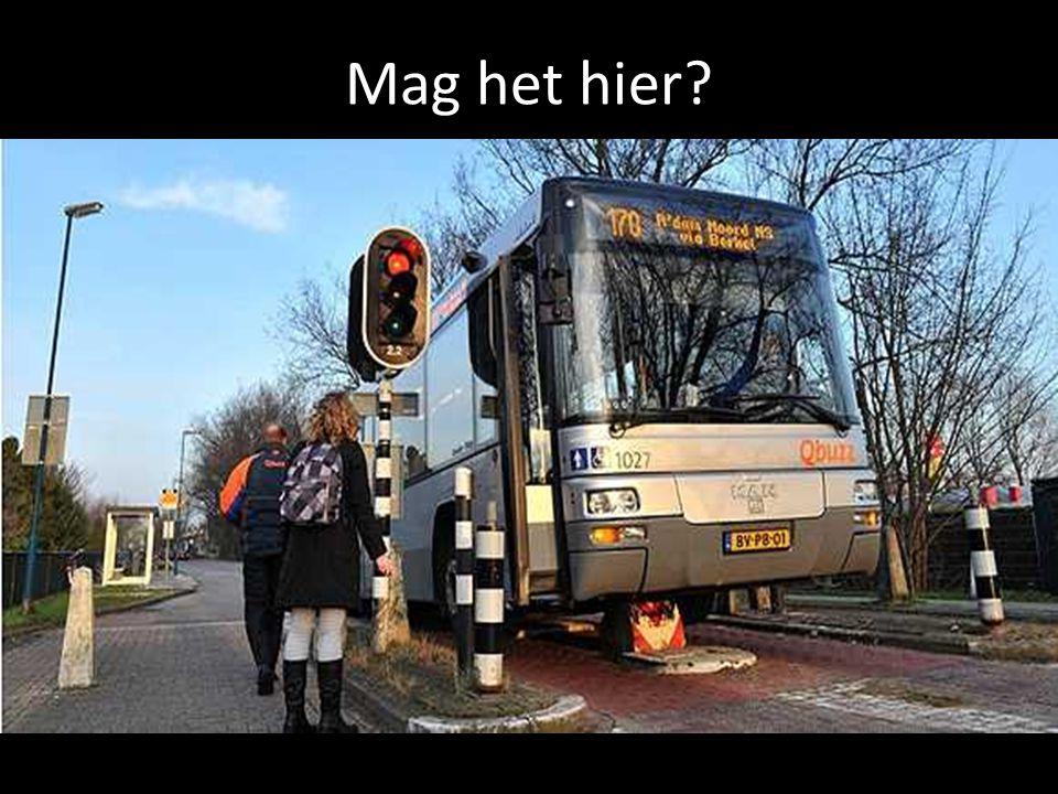 In sommige wijken is bus niet welkom. Hier wordt over het algemeen veel 'zwart' gereden