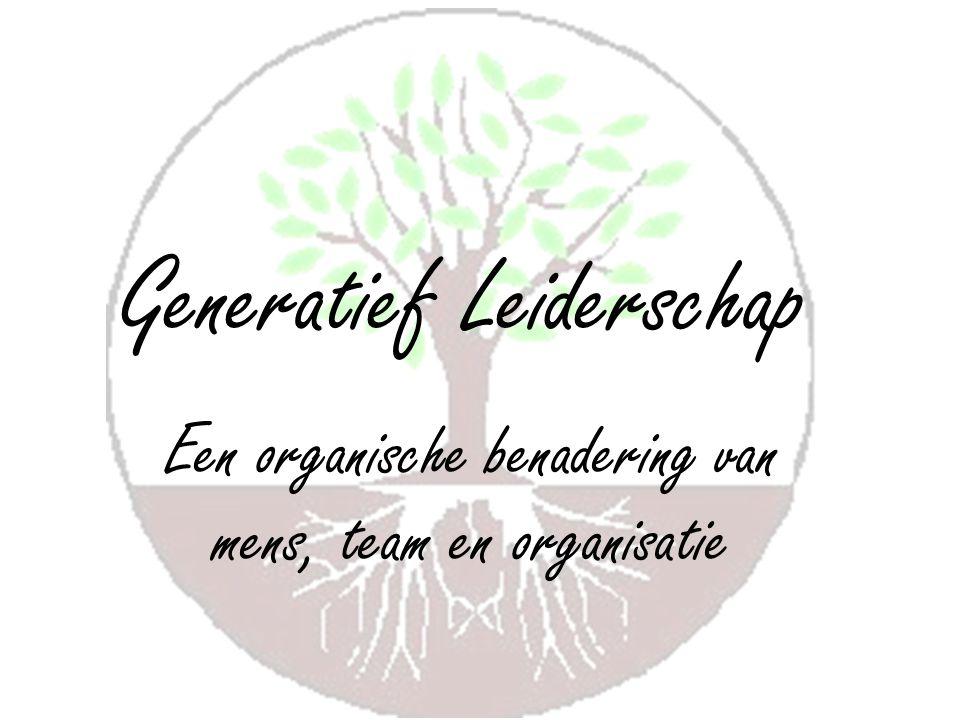Generatief Leiderschap Een organische benadering van mens, team en organisatie