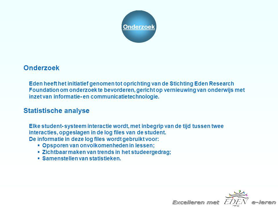 Onderzoek Eden heeft het initiatief genomen tot oprichting van de Stichting Eden Research Foundation om onderzoek te bevorderen, gericht op vernieuwin