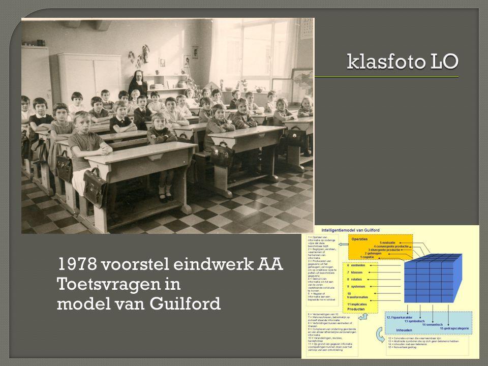 1978 voorstel eindwerk AA Toetsvragen in model van Guilford
