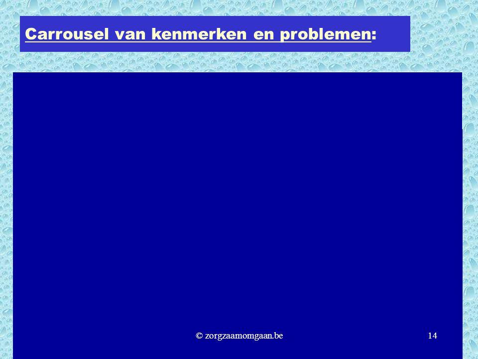 Carrousel van kenmerken en problemen: © zorgzaamomgaan.be14