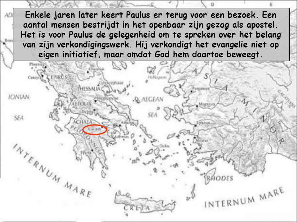 De apostel Paulus schrijft aan de christenen van Korinte, die hem bijzonder dierbaar zijn. Bijna twee jaar lang — in de jaren 50- 52 — had hij in deze