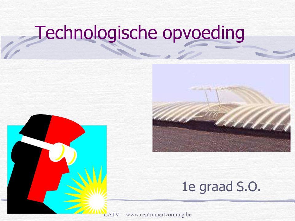 CATV www.centrumartvorming.be Technologische opvoeding 1e graad S.O.