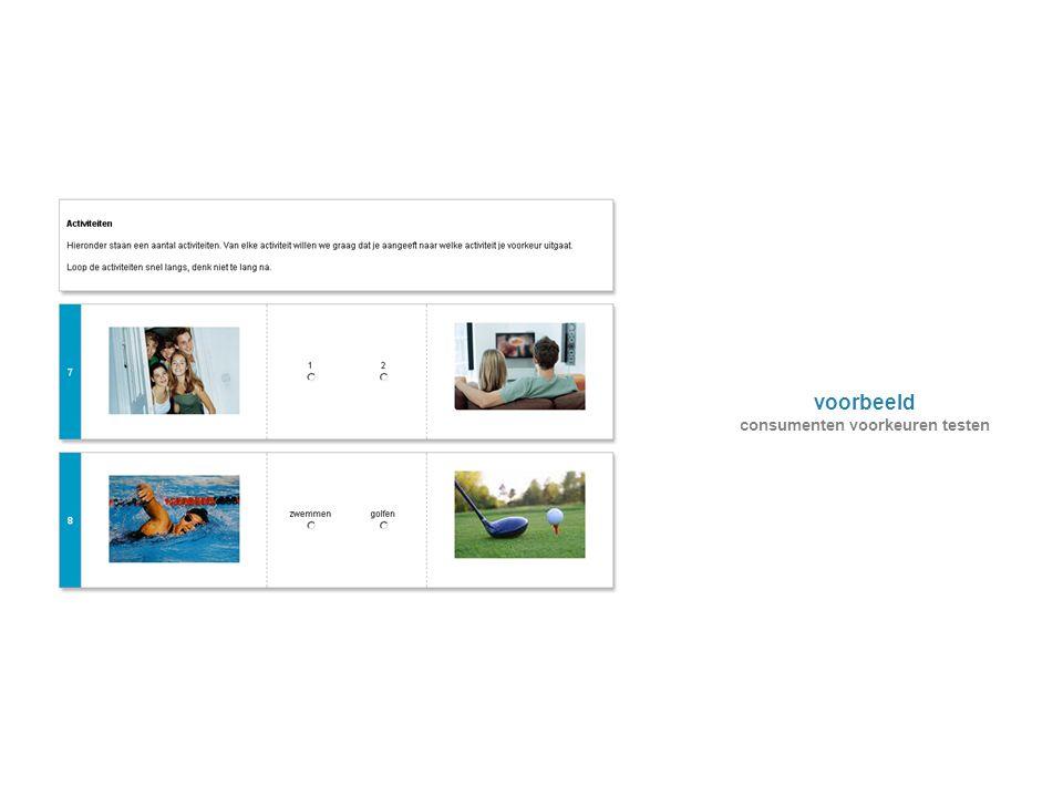 voorbeeld consumenten voorkeuren testen