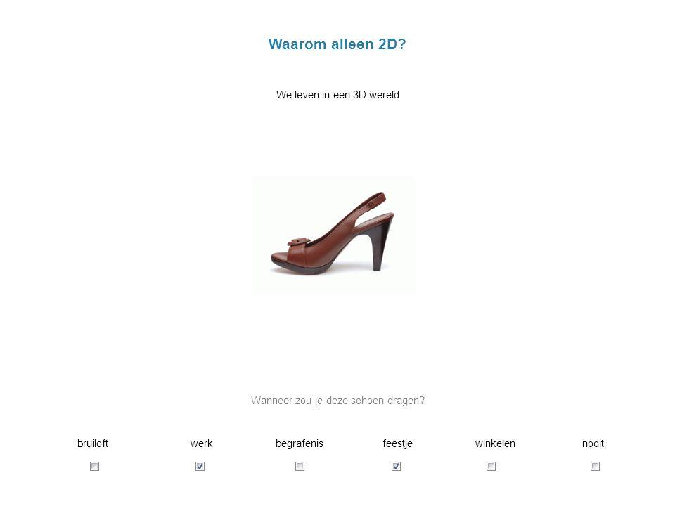 Waarom alleen 2D.We leven in een 3D wereld Wanneer zou je deze schoen dragen.