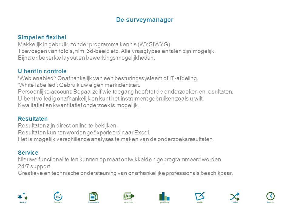 Simpel en flexibel Makkelijk in gebruik, zonder programma kennis (WYSIWYG).