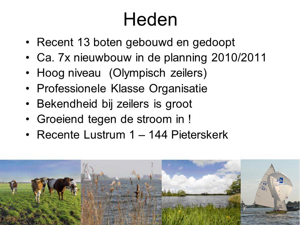 Heden •Recent 13 boten gebouwd en gedoopt •Ca.