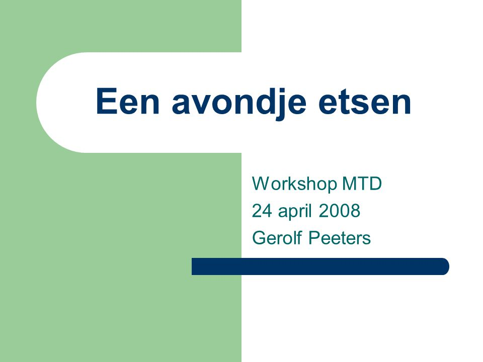 Een avondje etsen Workshop MTD 24 april 2008 Gerolf Peeters