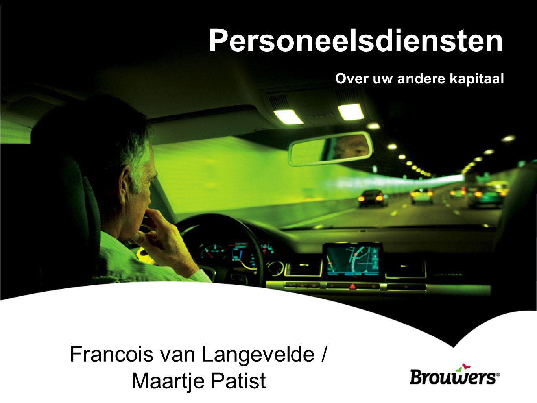 Personeelsdiensten Over uw andere kapitaal Francois van Langevelde / Maartje Patist
