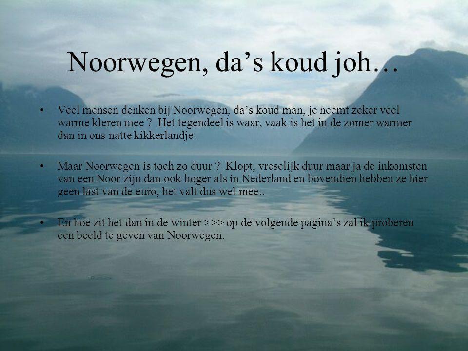 Noorse winters zijn : •Echte winters •Sneeuw, je weet wel dat witte spul dat in nederland maar niet wil blijven liggen.