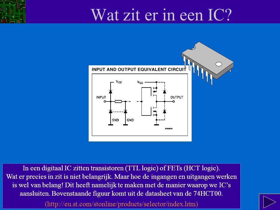 Menu Wat zit er in een IC.- Voer de onderstaande onderdelen één voor één uit.