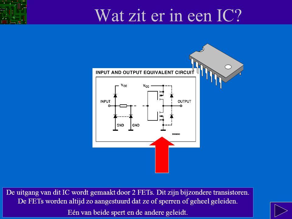 Wat zit er in een IC.De ingangen van alle HCT IC's kunnen we voorstellen als diodes in sper.