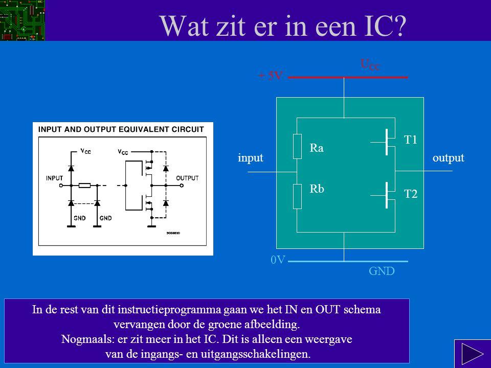 Wat zit er in een IC.De uitgang van dit IC wordt gemaakt door 2 FETs.