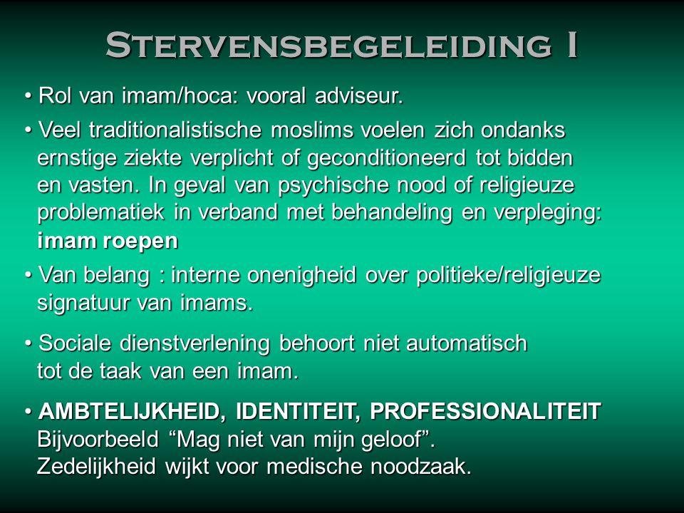 Stervensbegeleiding III Stervensbegeleiding III Als de familie er toe in staat is, doen de naaste familieleden het zelf.