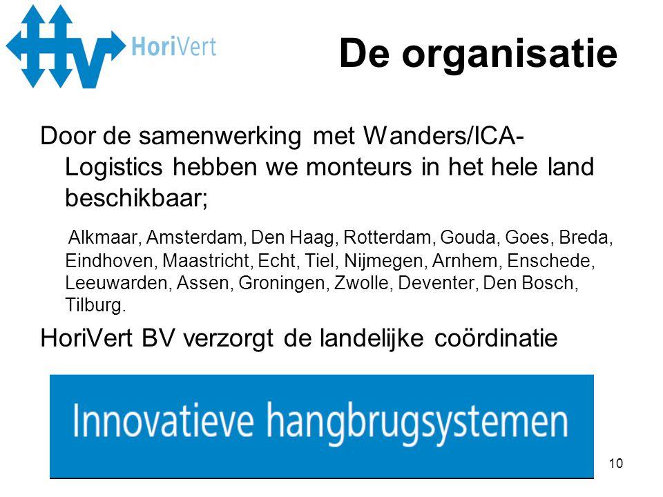 10 Door de samenwerking met Wanders/ICA- Logistics hebben we monteurs in het hele land beschikbaar; Alkmaar, Amsterdam, Den Haag, Rotterdam, Gouda, Go