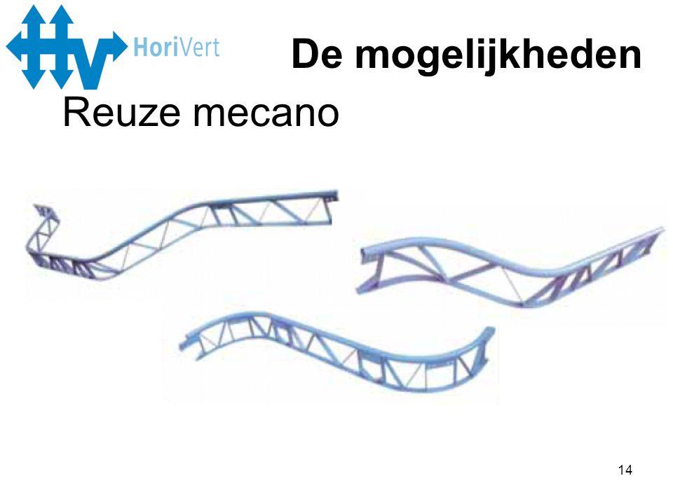 14 De mogelijkheden Reuze mecano