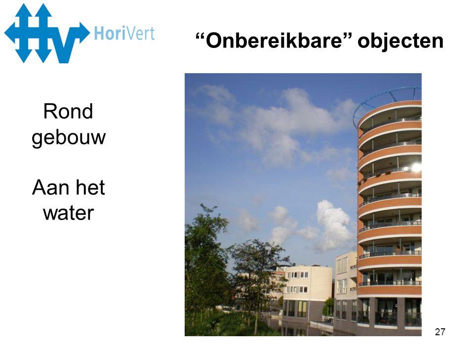 """27 """"Onbereikbare"""" objecten Rond gebouw Aan het water"""