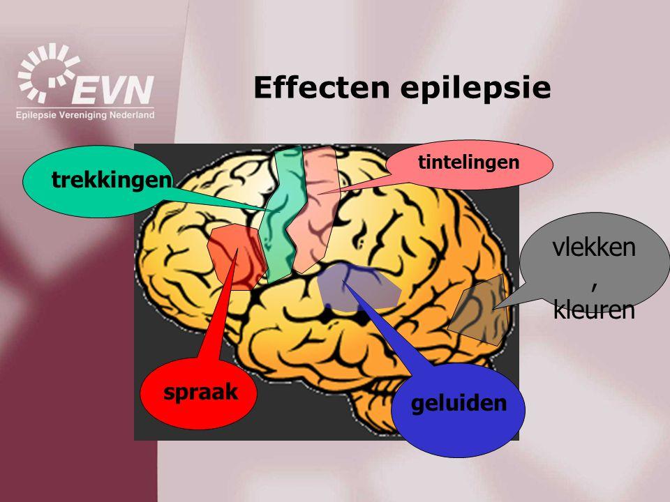 Effecten epilepsie tintelingen trekkingen vlekken, kleuren geluiden spraak