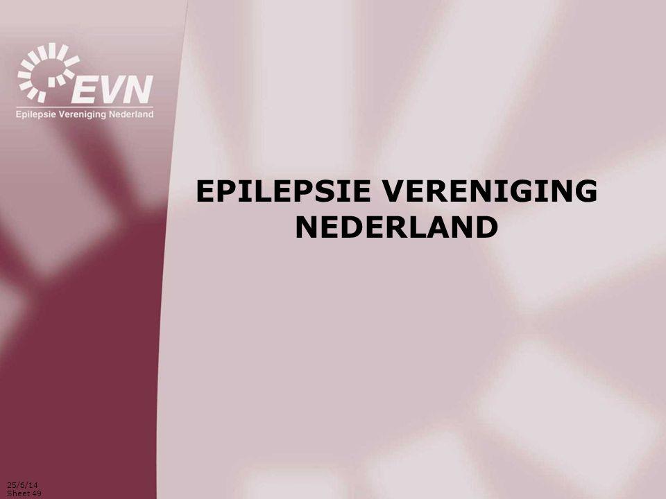 25/6/14 Sheet 49 EPILEPSIE VERENIGING NEDERLAND