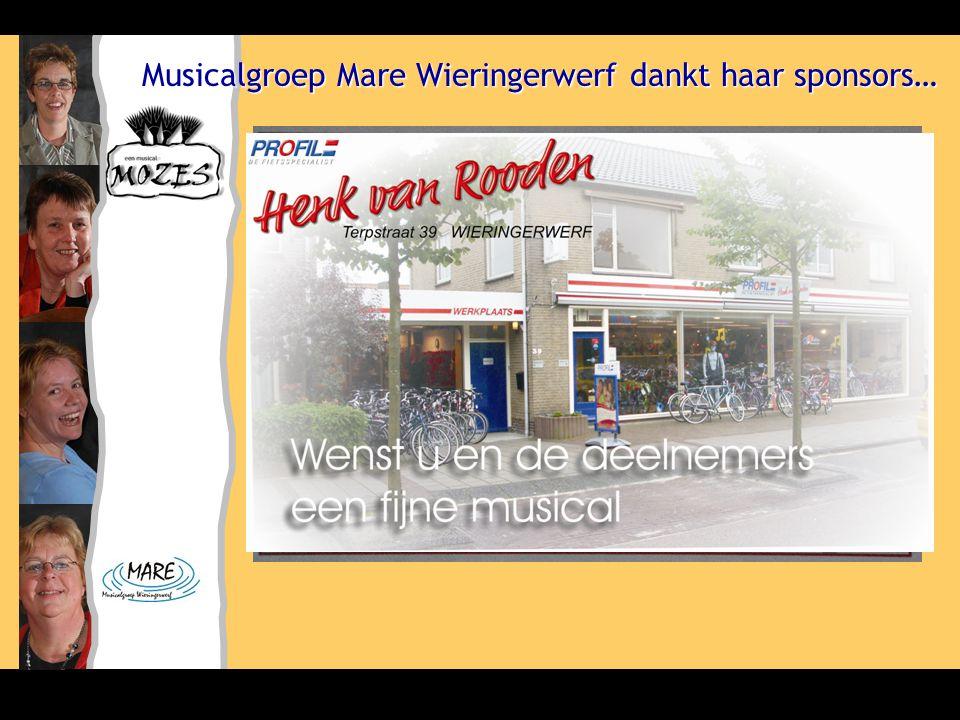 Musicalgroep Mare Wieringerwerf dankt haar sponsors…