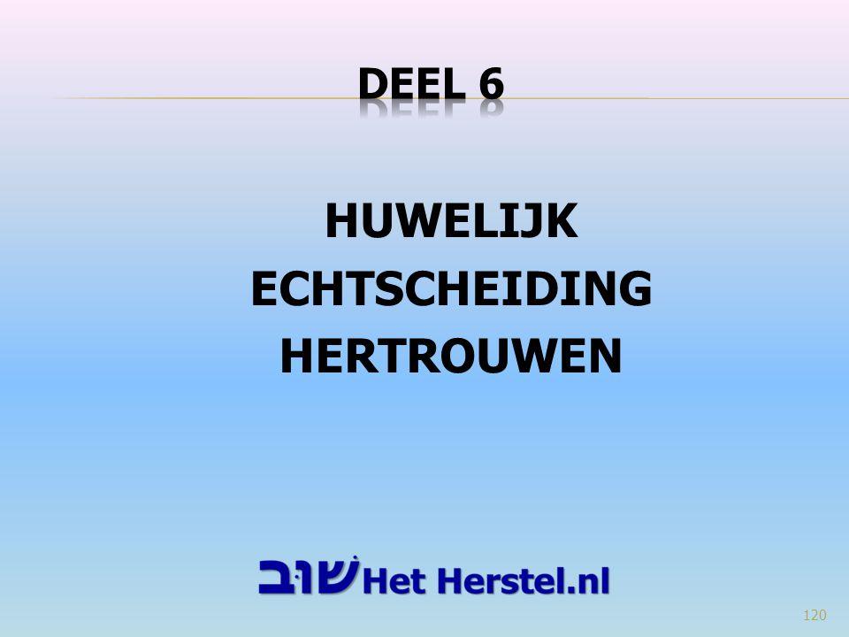 HUWELIJK ECHTSCHEIDING HERTROUWEN 120