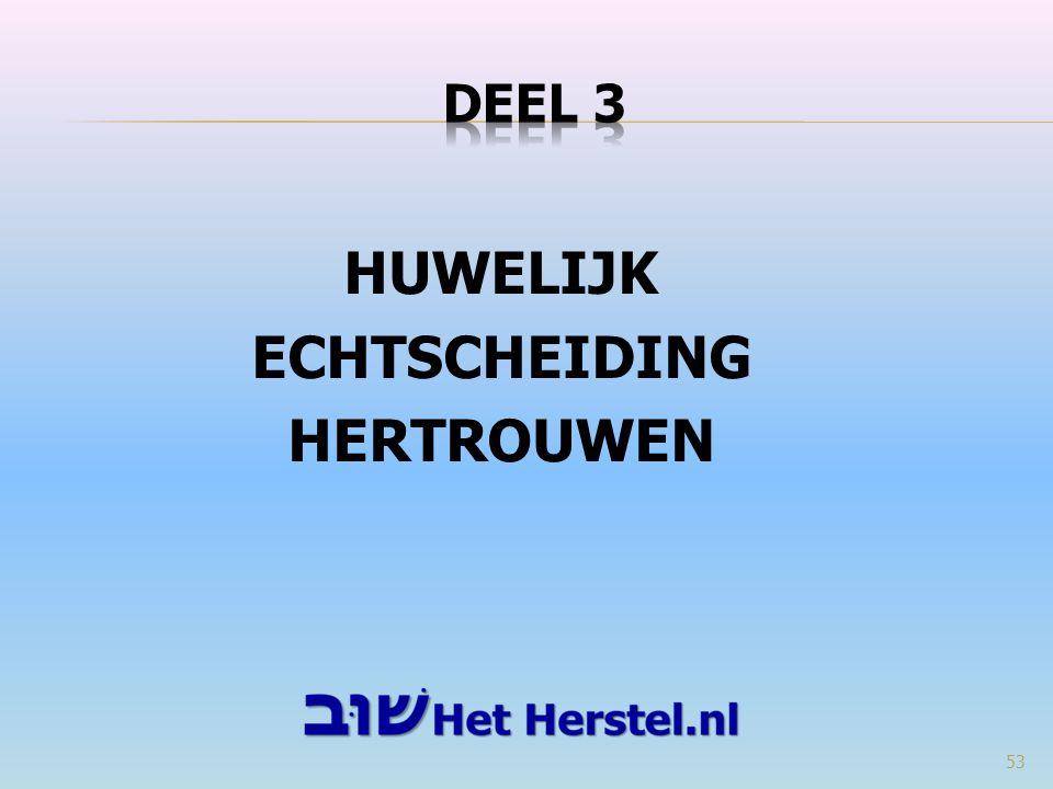 HUWELIJK ECHTSCHEIDING HERTROUWEN 53