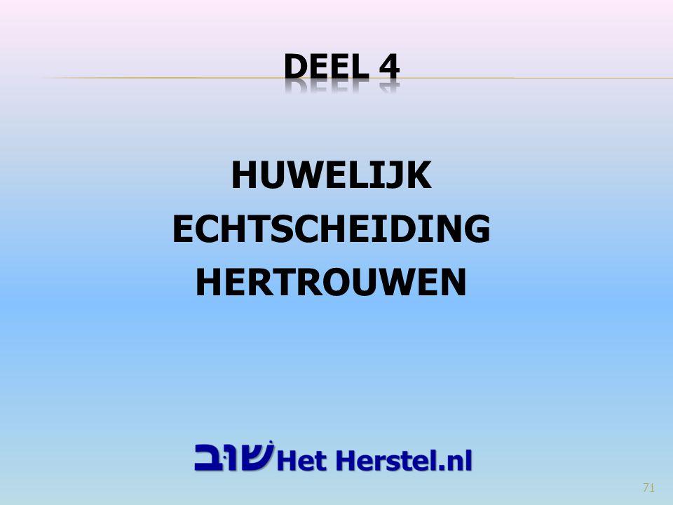 HUWELIJK ECHTSCHEIDING HERTROUWEN 71