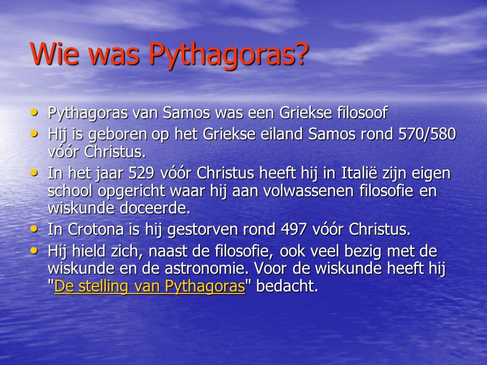 Wie was Pythagoras.