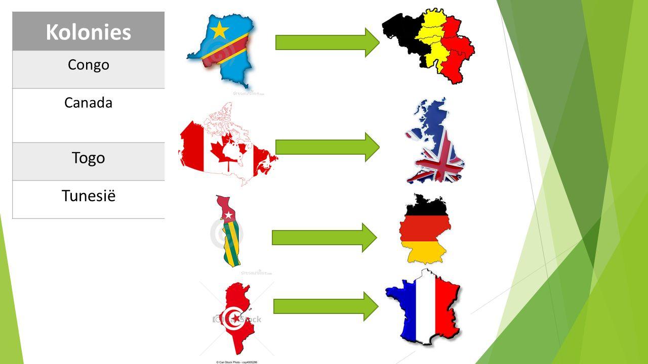 Kolonies Congo Canada Togo Tunesië