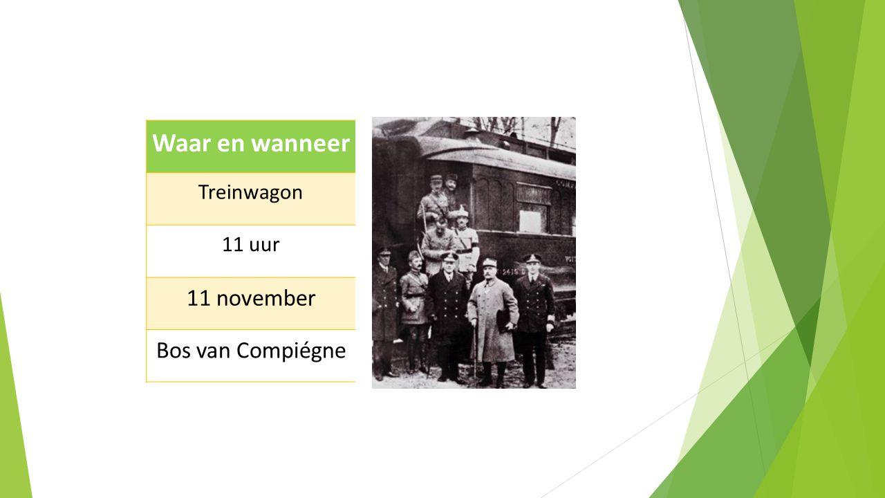 Waar en wanneer Treinwagon 11 uur 11 november Bos van Compiégne