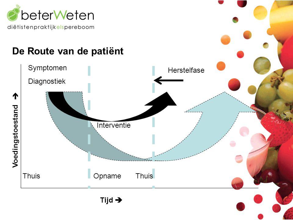 Voedingstoestand Thuis Opname Thuis Symptomen Diagnostiek Interventie Herstelfase Tijd   De Route van de patiënt