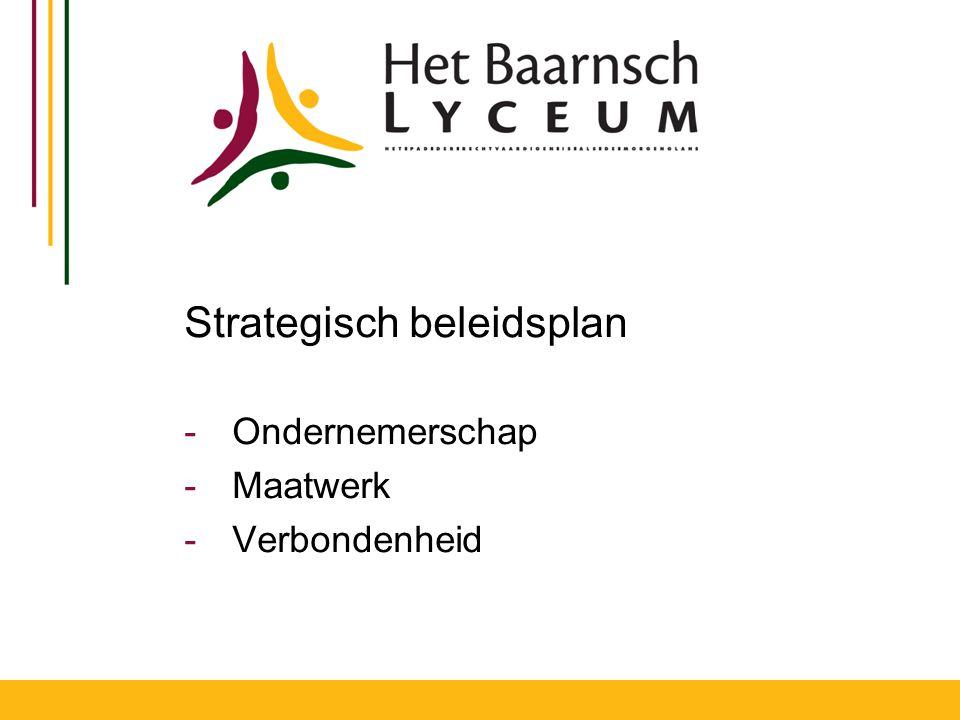 Strategisch beleidsplan -Ondernemerschap -Maatwerk -Verbondenheid