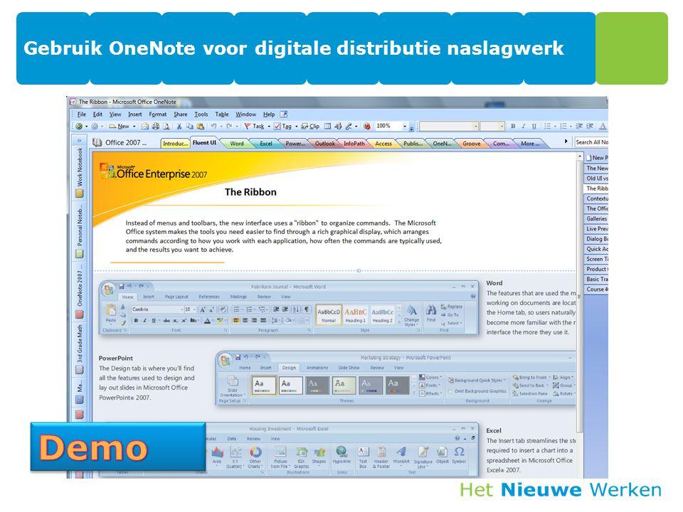 Gebruik OneNote voor digitale distributie naslagwerk 14