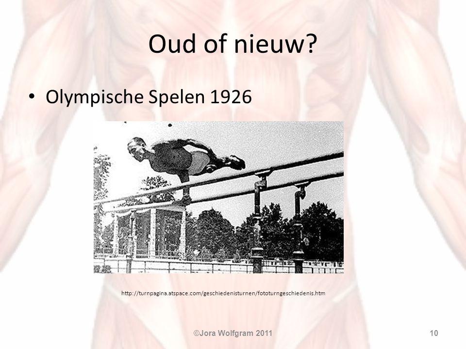 Oud of nieuw? • Olympische Spelen 1926 http://turnpagina.atspace.com/geschiedenisturnen/fototurngeschiedenis.htm ©Jora Wolfgram 201110