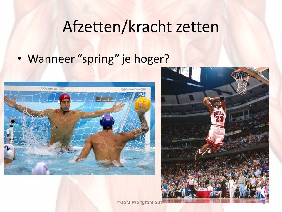 """Afzetten/kracht zetten • Wanneer """"spring"""" je hoger? ©Jora Wolfgram 20118"""