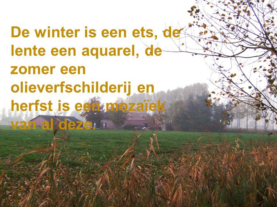 De winter is een ets, de lente een aquarel, de zomer een olieverfschilderij en herfst is een mozaïek van al deze.