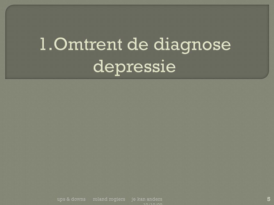  Kleine verandering in gemoedstoestand bij een voorheen depressieve patiënt:  kan leiden tot -zich steeds meer uitbreidend- negatief denken.