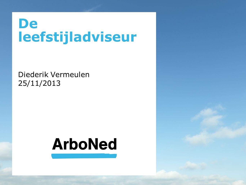 De leefstijladviseur Diederik Vermeulen 25/11/2013