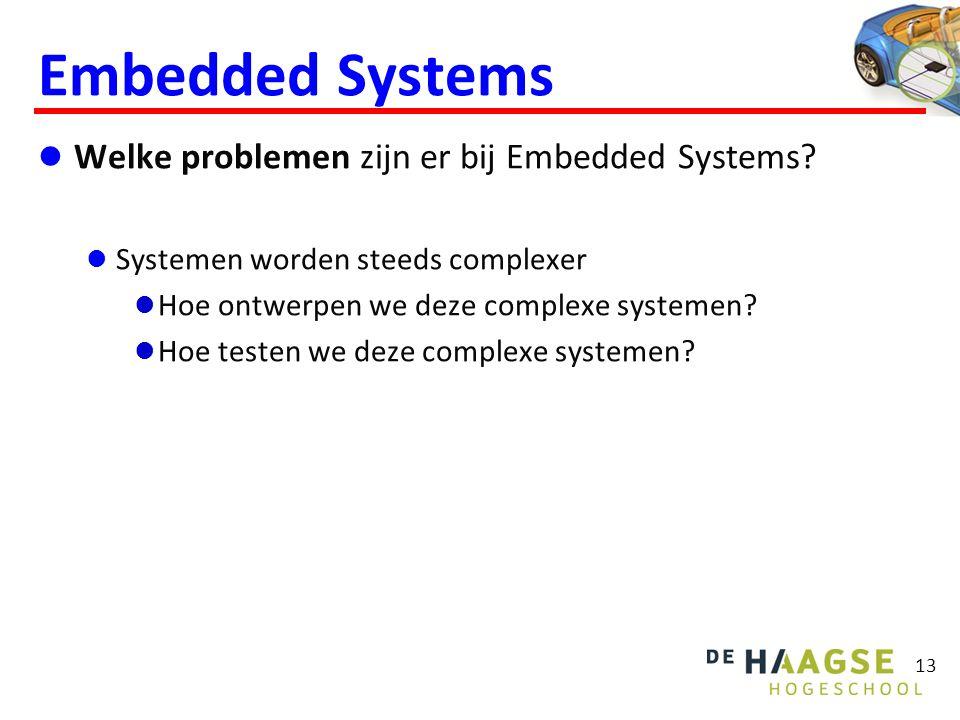 Embedded Systems  Welke problemen zijn er bij Embedded Systems?  Systemen worden steeds complexer  Hoe ontwerpen we deze complexe systemen?  Hoe t