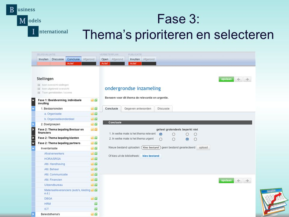 Fase 3: Thema's prioriteren en selecteren