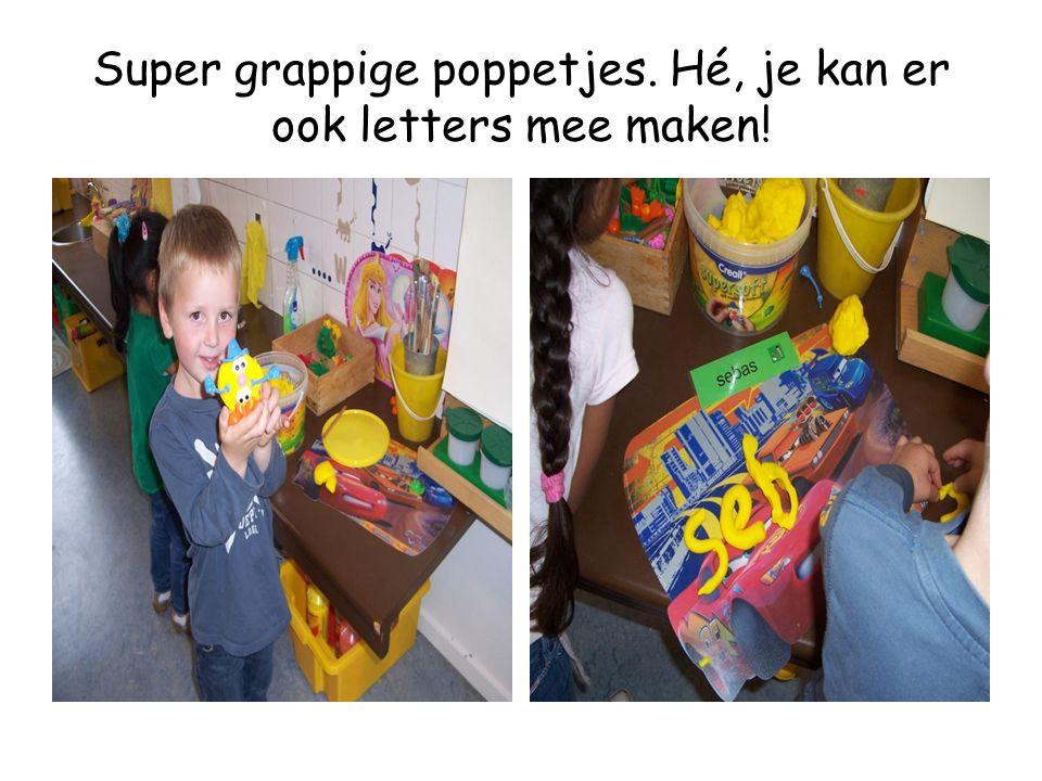 Super grappige poppetjes. Hé, je kan er ook letters mee maken!