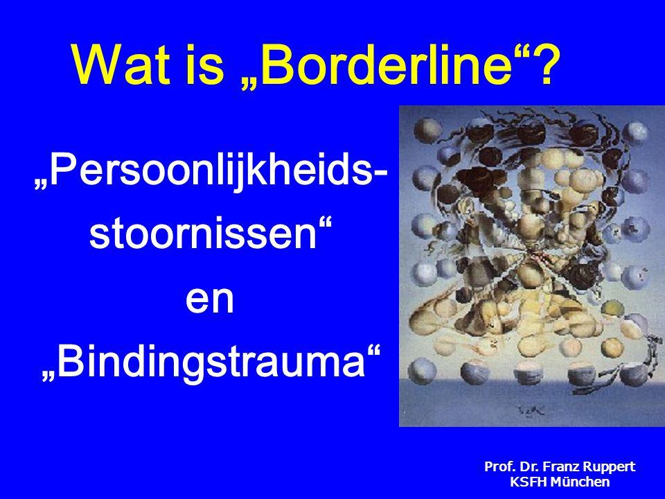 """Prof. Dr. Franz Ruppert KSFH München Wat is """"Borderline""""? """"Persoonlijkheids- stoornissen"""" en """"Bindingstrauma"""""""