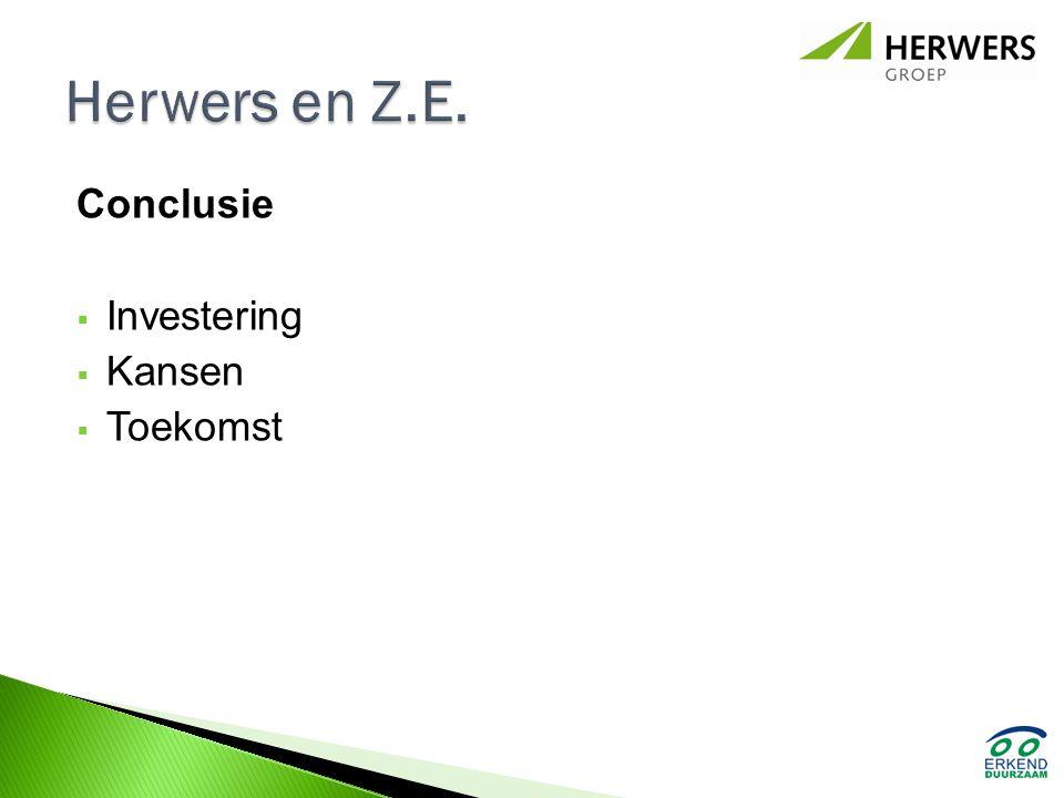 Conclusie  Investering  Kansen  Toekomst